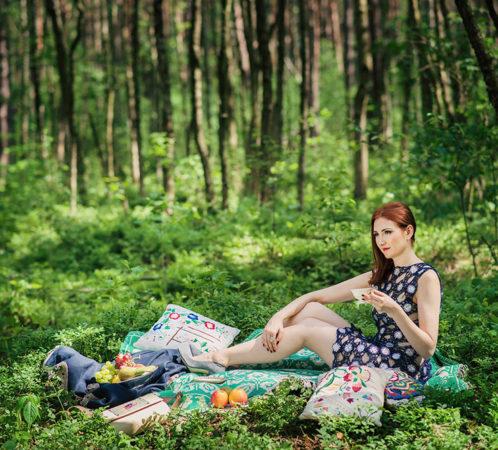 Ogólnopolska Kampania Zielona Strona Szafy, inicjatorka i ambasadorka kampanii - Izabela Jabłonowska. Zdjęcia Renata Orlińska, Makijaż Dorota Mańkowska.