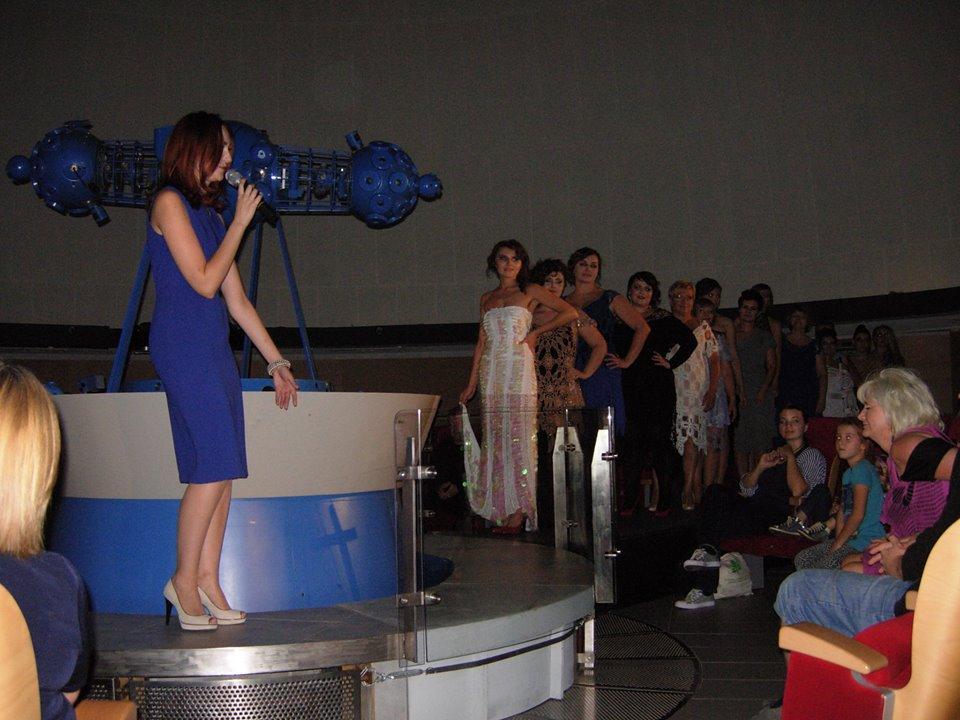 Pokaz mody w olsztyńskim Planetarium, Warmianki, 2014.