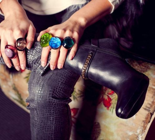 Biżuteria Murano, Fashion Time; Produkcja i stylizacja I.Jabłonowska, zdjęcia Ł.Pepol, modelka Kasia