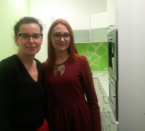 I. Jabłonowska i A. Passent (pisarka, felietonistka, dziennikarka). Wywiad do magazynu Fashion Time.