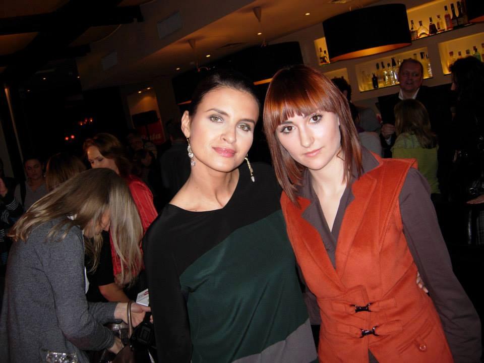 Izabela Jabłonowska i Joanna Horodyńska na pokazie marki Bata.