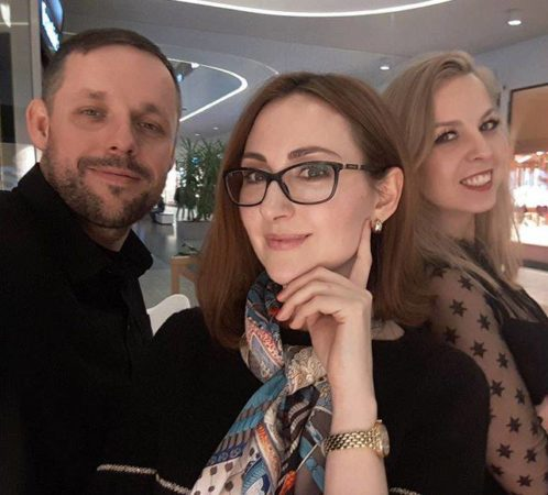 I. Jabłonowska i M. Porycki, nagrania do audycji radiowej.