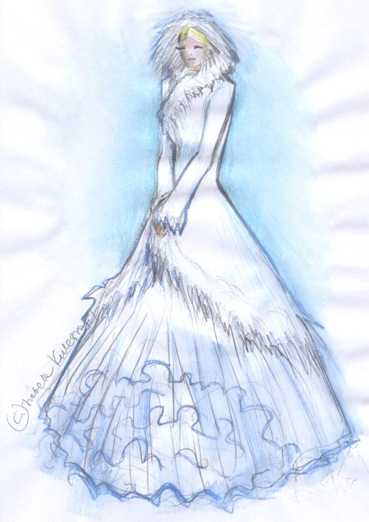 Zimowa suknia ślubna